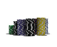 Multicolor poker chips Royalty Free Stock Photography