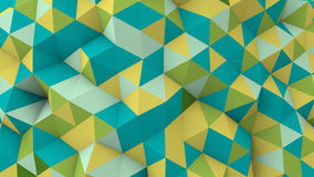 Multicolor polygonal geometric surface vector illustration