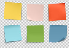 Multicolor post it notes Stock Images
