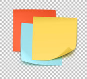 Multicolor post it notes Stock Photos