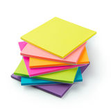 Multicolor post-it sticky note pads Royalty Free Stock Images