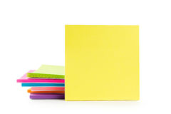 Multicolor post-it sticky note pads Stock Image