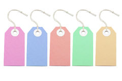 Multicolor price tags Stock Photo