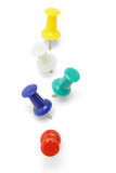 Multicolor Push Pins Royalty Free Stock Image