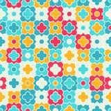 Multicolor Quatrefoil Lattice Pattern, seamless Stock Photos