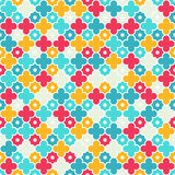 Multicolor Quatrefoil Lattice Pattern, seamless Stock Images