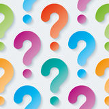 Multicolor question marks wallpaper. Multicolor question marks with cut out effect. 3d seamless background. Vector EPS10 Royalty Free Stock Image