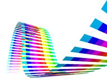 Multicolor Rainbow Straps. Multicolour straps - rainbow, wave, waves, white background Stock Image