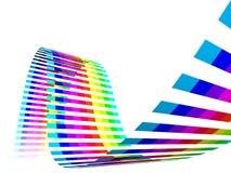 Multicolor Rainbow Straps Stock Image