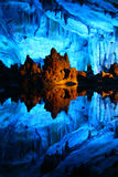 Multicolor Reed Flute cave in Guilin, Guangxi province of China Royalty Free Stock Photography