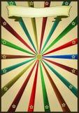 Multicolor retro do vintage ilustração do vetor