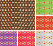 Multicolor retro pattern set Stock Images