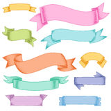 Multicolor ribbons Stock Image