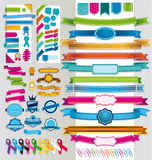 Multicolor ribbons and signals Stock Photos
