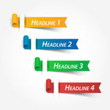 Multicolor ribbons  Use for fill your headline Stock Photo