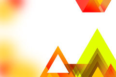 Multicolor right side overlap triangle , abstrack background Royalty Free Stock Images