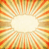 Multicolor rising sun or sun ray,. Retro background of multicolor rising sun or sun ray, sun beam  with vintage frame design - old canvas texture Royalty Free Stock Image