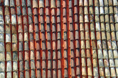 Multicolor Roof tile pattern Stock Image