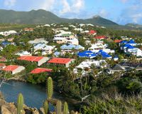Multicolor Roofs in St. Martin royalty free stock photo