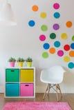 Multicolor room for child. Interior of multicolor designed room for child stock photo
