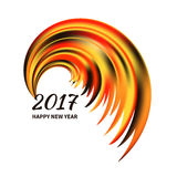 Multicolor the rooster tail. New Year 2017 celebration card. Stylized multicolor the rooster tail isolated on white background.Greeting Card template. Vector Stock Images