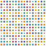 Multicolor rounded squares Royalty Free Stock Images