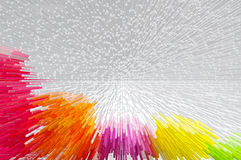 Multicolor saca el fondo abstracto imágenes de archivo libres de regalías