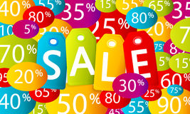Multicolor sale background Stock Images