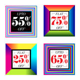 Multicolor Sale Banner Royalty Free Stock Images