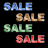 Multicolor sale letterings Royalty Free Stock Photo