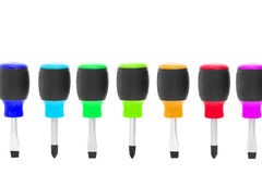 Multicolor screwdrivers Royalty Free Stock Images