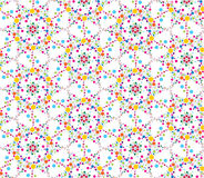 Multicolor Seamless floral mosaic pattern Royalty Free Stock Images