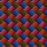 Multicolor seamless knitted pattern Royalty Free Stock Photos