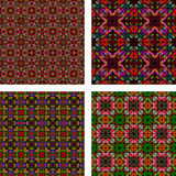 Multicolor seamless mosaic background set Stock Images