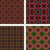 Multicolor seamless mosaic background set. Multicolor seamless abstract triangle mosaic background set Stock Images