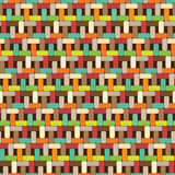 Multicolor seamless pattern. Wickerwork vector background Royalty Free Stock Photography