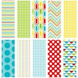 Multicolor Seamless Patterns Stock Photos