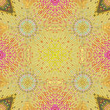 Multicolor seamless texture. Mosaic symmetric background. Abstract unusual vector pattern.  Royalty Free Stock Image