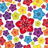 multicolor seamless wallpaper royaltyfri illustrationer
