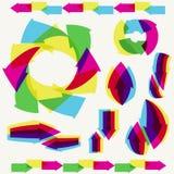 multicolor set för pilar royaltyfri illustrationer