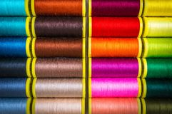 Multicolor sewing threads Stock Photography