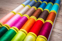 Multicolor sewing threads Stock Image