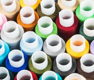 Multicolor sewing threads background Royalty Free Stock Photo