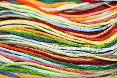 Multicolor sewing threads texture Royalty Free Stock Image