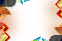 Multicolor shapes overlaping, abstrack background Royalty Free Stock Photo