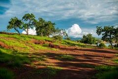 Red Earth of Seraya island Royalty Free Stock Images