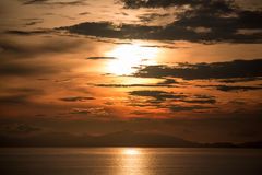 Sunset in the Seraya island Royalty Free Stock Photos