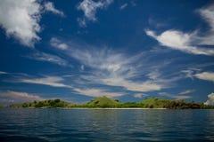 Approaching the island Seraya 2 Royalty Free Stock Images