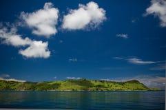 Approaching the island Seraya 3 Stock Photography