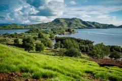 Island Seraya from the top Royalty Free Stock Photo